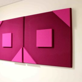 Square 2 Triangle 3D Bicolor acoustic panel