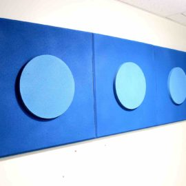Circle acoustic panel in Square 3-D Bicolor