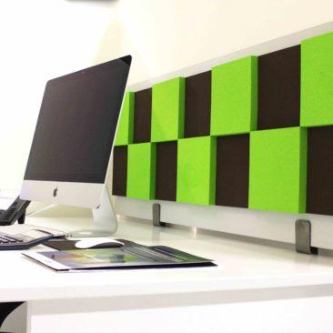 Acoustic screen Damier 3D on the Desktop