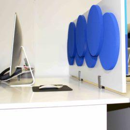 Cloison acoustique Olympic 3D Recto Verso sur bureau
