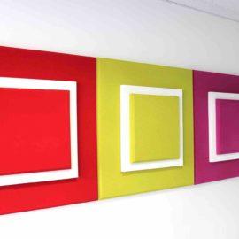 Panneau Acoustique 3 Squares 3D