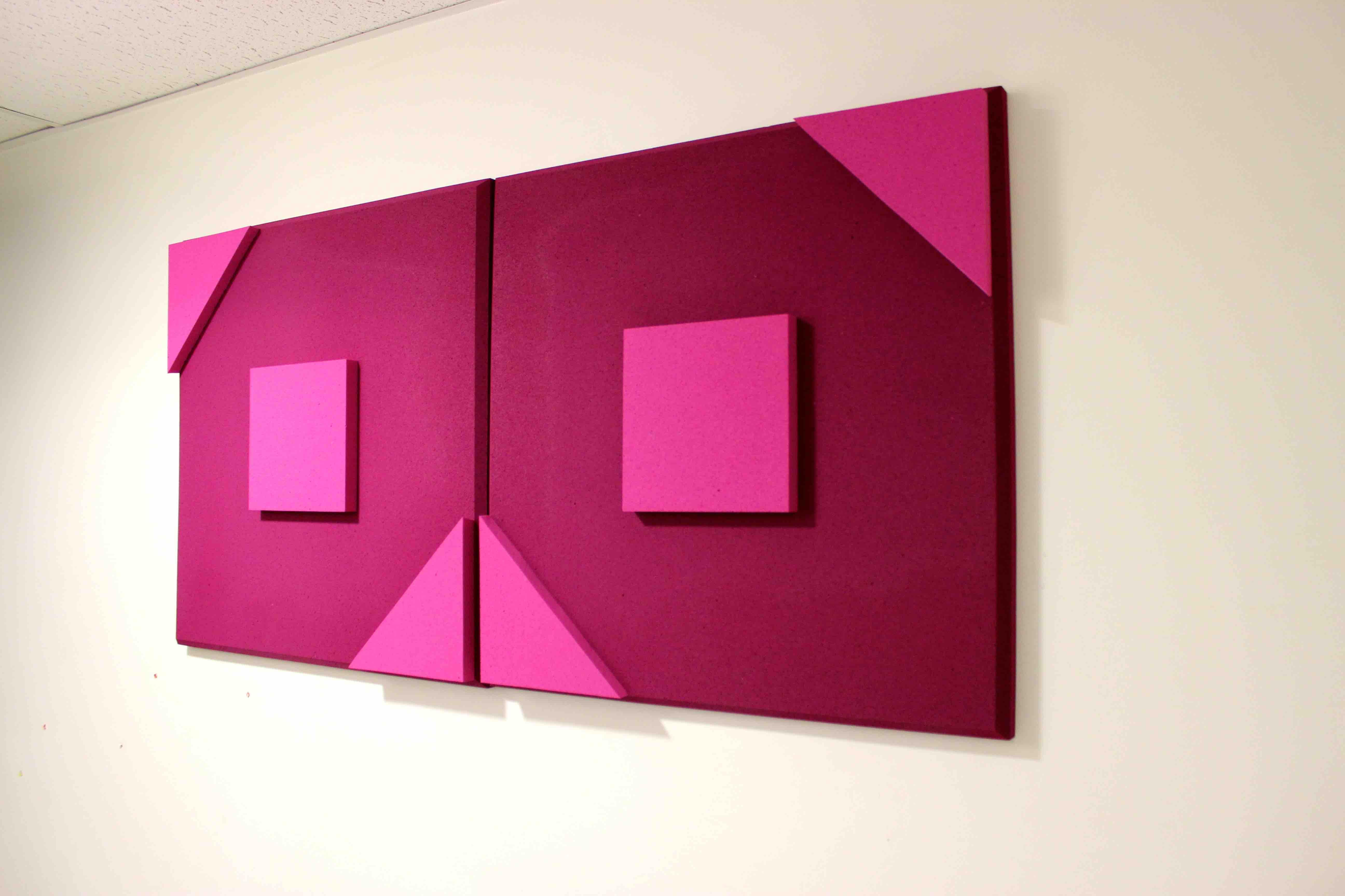 panneau acoustique carre 2 triangle 3d. Black Bedroom Furniture Sets. Home Design Ideas