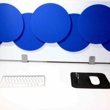 Cloison acoustique Olympic 3D sur bureau