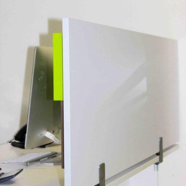 Cloison acoustique Damier 3D sur bureau