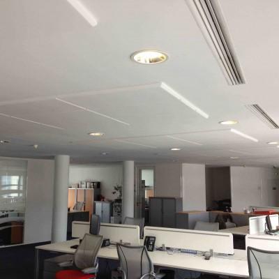 meladecor absorbruit au plafond dans bureau