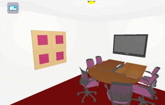 Simulateur de visualisation de panneaux acoustique Audicare France